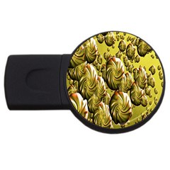Melting Gold Drops Brighten Version Abstract Pattern Revised Edition USB Flash Drive Round (4 GB)