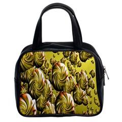 Melting Gold Drops Brighten Version Abstract Pattern Revised Edition Classic Handbags (2 Sides) by Simbadda