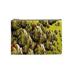 Melting Gold Drops Brighten Version Abstract Pattern Revised Edition Cosmetic Bag (medium)  by Simbadda
