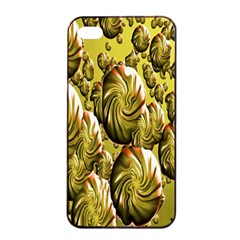 Melting Gold Drops Brighten Version Abstract Pattern Revised Edition Apple Iphone 4/4s Seamless Case (black) by Simbadda