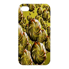 Melting Gold Drops Brighten Version Abstract Pattern Revised Edition Apple Iphone 4/4s Premium Hardshell Case by Simbadda