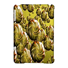 Melting Gold Drops Brighten Version Abstract Pattern Revised Edition Apple Ipad Mini Hardshell Case (compatible With Smart Cover) by Simbadda