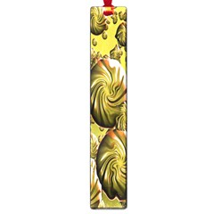 Melting Gold Drops Brighten Version Abstract Pattern Revised Edition Large Book Marks by Simbadda
