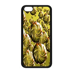 Melting Gold Drops Brighten Version Abstract Pattern Revised Edition Apple Iphone 5c Seamless Case (black) by Simbadda