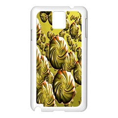 Melting Gold Drops Brighten Version Abstract Pattern Revised Edition Samsung Galaxy Note 3 N9005 Case (white) by Simbadda