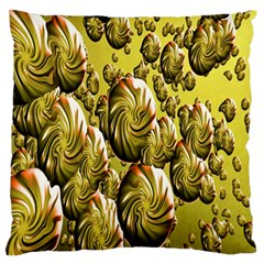Melting Gold Drops Brighten Version Abstract Pattern Revised Edition Standard Flano Cushion Case (one Side) by Simbadda