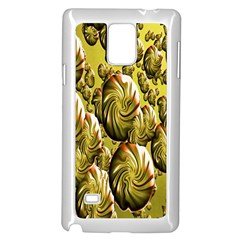 Melting Gold Drops Brighten Version Abstract Pattern Revised Edition Samsung Galaxy Note 4 Case (white) by Simbadda