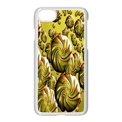 Melting Gold Drops Brighten Version Abstract Pattern Revised Edition Apple Iphone 7 Seamless Case (white) by Simbadda