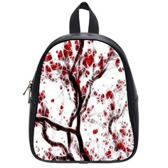 Tree Art Artistic Abstract Background School Bags (small)  by Simbadda