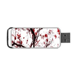 Tree Art Artistic Abstract Background Portable Usb Flash (one Side) by Simbadda
