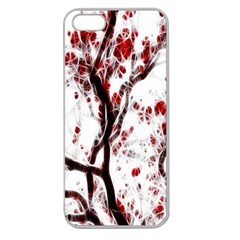 Tree Art Artistic Abstract Background Apple Seamless Iphone 5 Case (clear) by Simbadda