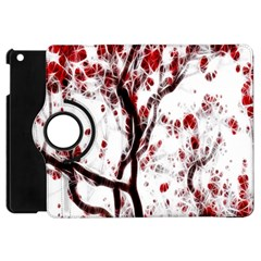 Tree Art Artistic Abstract Background Apple Ipad Mini Flip 360 Case by Simbadda