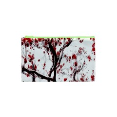 Tree Art Artistic Abstract Background Cosmetic Bag (xs) by Simbadda
