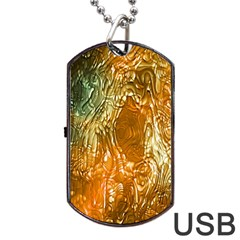 Light Effect Abstract Background Wallpaper Dog Tag Usb Flash (two Sides) by Simbadda