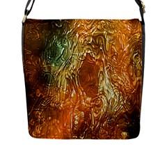 Light Effect Abstract Background Wallpaper Flap Messenger Bag (l)  by Simbadda