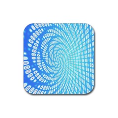 Abstract Pattern Neon Glow Background Rubber Square Coaster (4 Pack)  by Simbadda