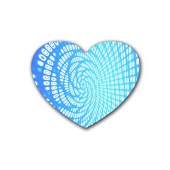 Abstract Pattern Neon Glow Background Rubber Coaster (heart)  by Simbadda