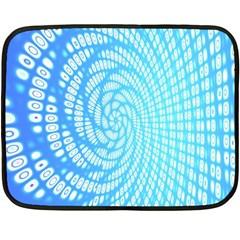 Abstract Pattern Neon Glow Background Fleece Blanket (mini) by Simbadda