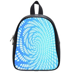 Abstract Pattern Neon Glow Background School Bags (small)  by Simbadda