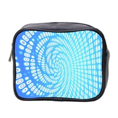 Abstract Pattern Neon Glow Background Mini Toiletries Bag 2 Side by Simbadda
