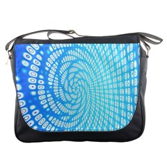Abstract Pattern Neon Glow Background Messenger Bags by Simbadda