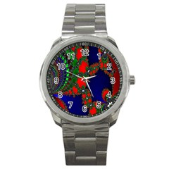 Recurring Circles In Shape Of Amphitheatre Sport Metal Watch by Simbadda