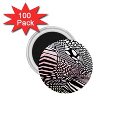 Abstract Fauna Pattern When Zebra And Giraffe Melt Together 1 75  Magnets (100 Pack)  by Simbadda