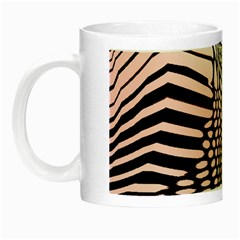 Abstract Fauna Pattern When Zebra And Giraffe Melt Together Night Luminous Mugs by Simbadda