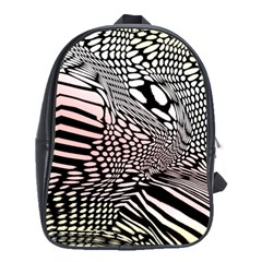 Abstract Fauna Pattern When Zebra And Giraffe Melt Together School Bags(large)  by Simbadda