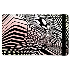 Abstract Fauna Pattern When Zebra And Giraffe Melt Together Apple Ipad 3/4 Flip Case by Simbadda