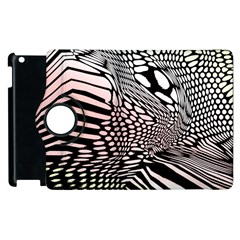 Abstract Fauna Pattern When Zebra And Giraffe Melt Together Apple Ipad 3/4 Flip 360 Case by Simbadda