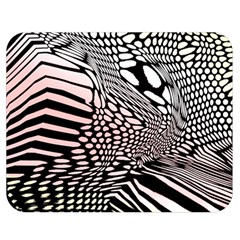 Abstract Fauna Pattern When Zebra And Giraffe Melt Together Double Sided Flano Blanket (medium)  by Simbadda