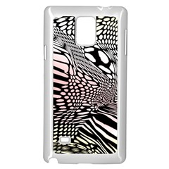 Abstract Fauna Pattern When Zebra And Giraffe Melt Together Samsung Galaxy Note 4 Case (white) by Simbadda