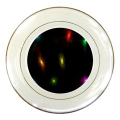 Star Lights Abstract Colourful Star Light Background Porcelain Plates by Simbadda