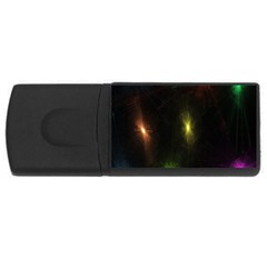 Star Lights Abstract Colourful Star Light Background Usb Flash Drive Rectangular (4 Gb) by Simbadda