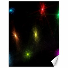 Star Lights Abstract Colourful Star Light Background Canvas 12  X 16   by Simbadda