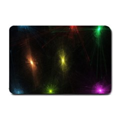 Star Lights Abstract Colourful Star Light Background Small Doormat  by Simbadda