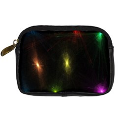 Star Lights Abstract Colourful Star Light Background Digital Camera Cases by Simbadda