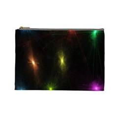 Star Lights Abstract Colourful Star Light Background Cosmetic Bag (large)  by Simbadda