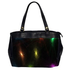 Star Lights Abstract Colourful Star Light Background Office Handbags (2 Sides)  by Simbadda