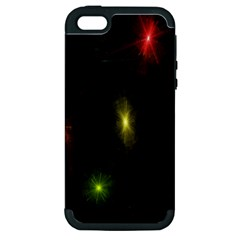 Star Lights Abstract Colourful Star Light Background Apple Iphone 5 Hardshell Case (pc+silicone) by Simbadda