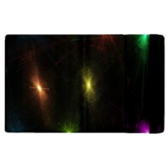 Star Lights Abstract Colourful Star Light Background Apple Ipad 2 Flip Case by Simbadda