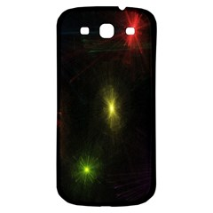 Star Lights Abstract Colourful Star Light Background Samsung Galaxy S3 S Iii Classic Hardshell Back Case by Simbadda
