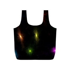 Star Lights Abstract Colourful Star Light Background Full Print Recycle Bags (s)  by Simbadda