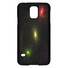 Star Lights Abstract Colourful Star Light Background Samsung Galaxy S5 Case (black) by Simbadda