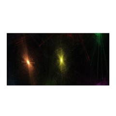 Star Lights Abstract Colourful Star Light Background Satin Wrap by Simbadda