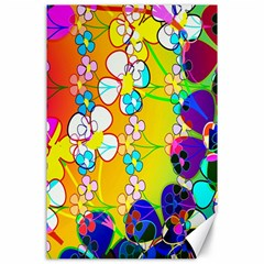 Abstract Flowers Design Canvas 24  X 36  by Simbadda