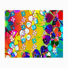 Abstract Flowers Design Small Glasses Cloth (2 Side) by Simbadda