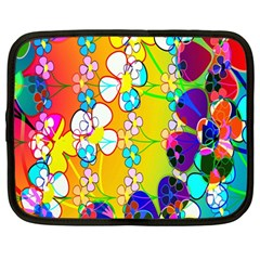 Abstract Flowers Design Netbook Case (large) by Simbadda