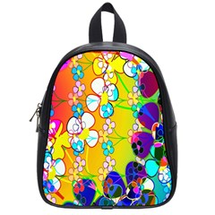 Abstract Flowers Design School Bags (small)  by Simbadda